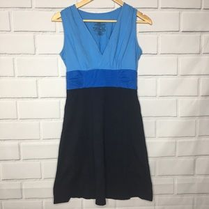Patagonia Blue Colorblock Ruched Margot Dress (S)